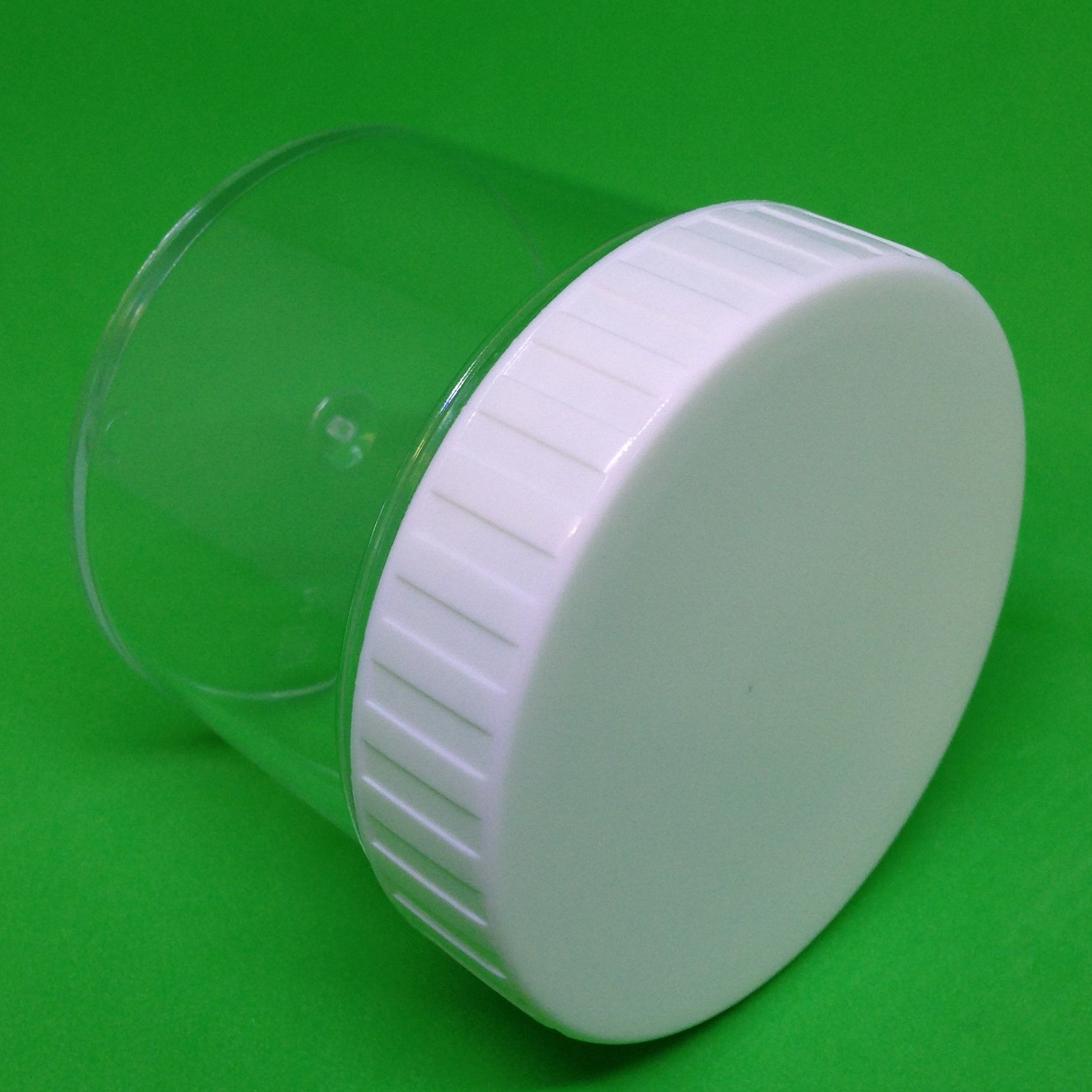 100 Ml Clear Plastic Jar Container With White Screw Cap